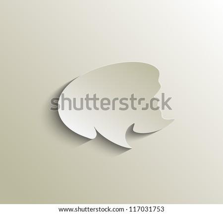 speech bubble vector - stock vector