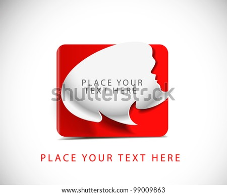 speech bubble vector colorful labels, tags design. - stock vector