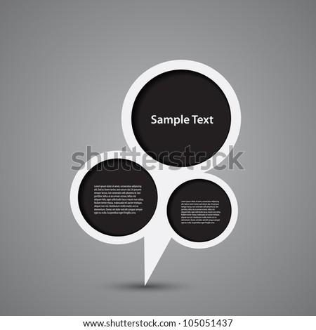 Speech Bubbles - stock vector