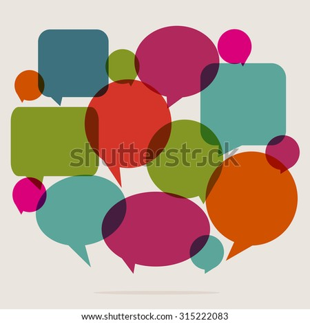 speech bubbles. communication concept - stock vector
