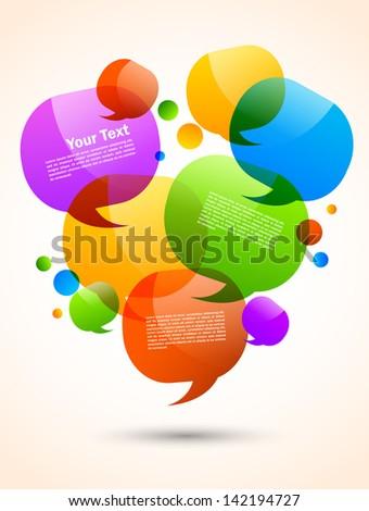 Speech bubbles design - stock vector