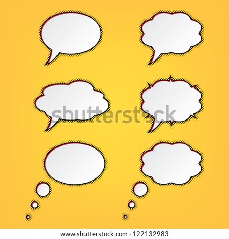 speech bubbles for cartoons. set. vector eps10 - stock vector