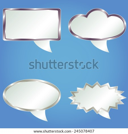 Speech bubbles from metals gradient. Vector illustration. - stock vector