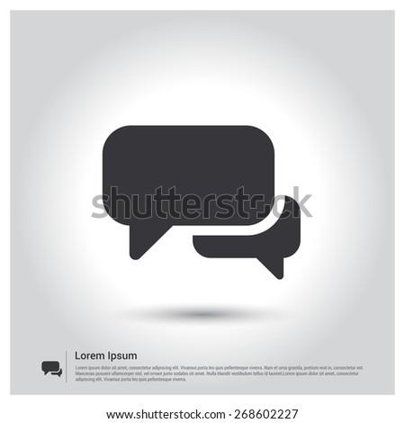 Speech Bubbles Icon. Chat pictogram icon - stock vector