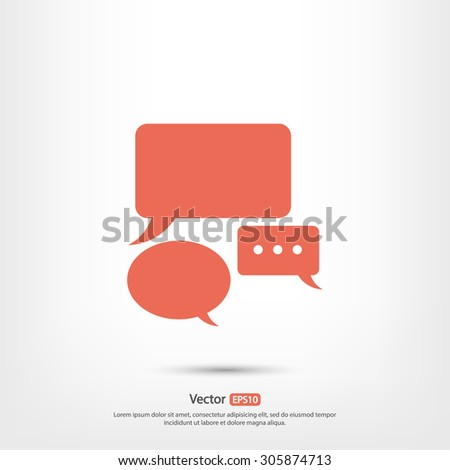 Speech bubbles  icon, vector illustration. Flat design style - stock vector