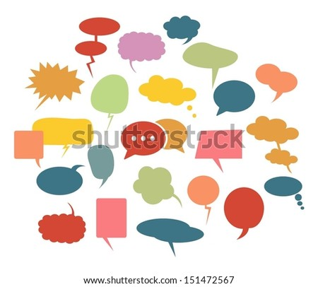 Speech bubbles icons set.Vector - stock vector