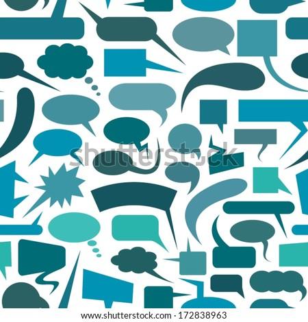 Speech bubbles seamless pattern.  - stock vector