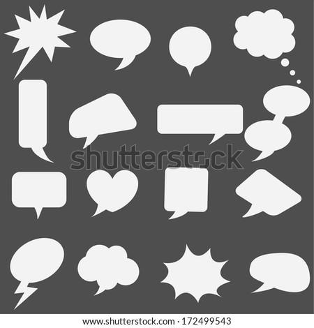 Speech bubbles set - stock vector