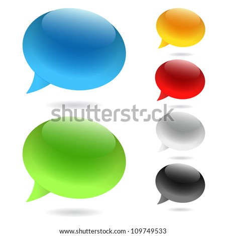 Speech Bubbles (Set of speech bubbles) - stock vector