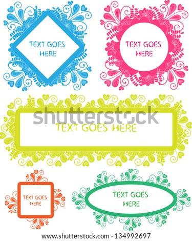 speech bubbles/text boxes - stock vector