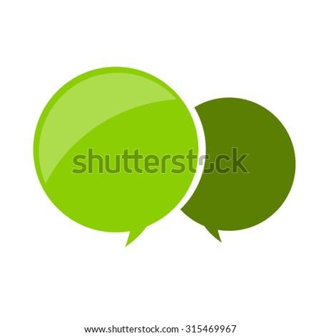 Speech bubbles. Vector - stock vector