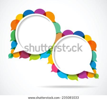 Speech bubbles vector sets  - stock vector