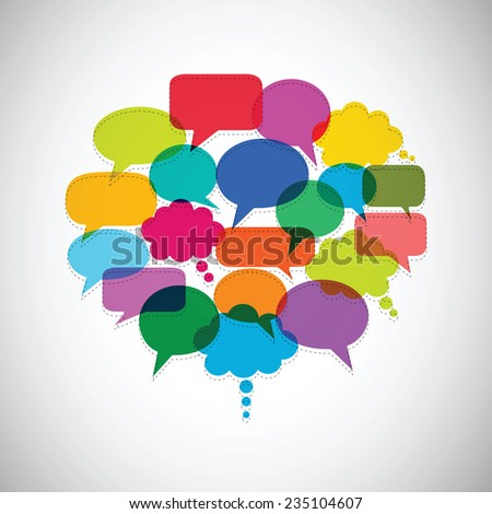 Speech bubbles vector sets - stock vector