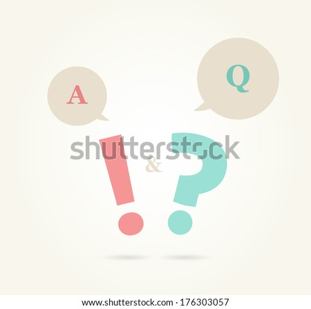 speech bubbles with question and answer  - stock vector
