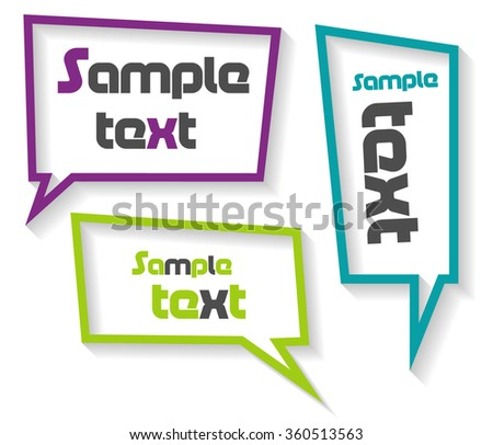 Speech bubbles with shadow - stock vector
