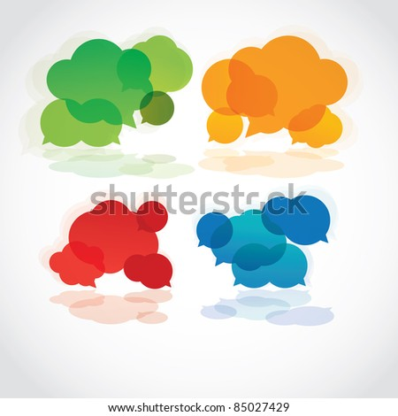 Speech cloud collection, vector - stock vector