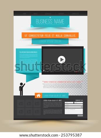 Speech concept for business website template. Vector illustration. - stock vector