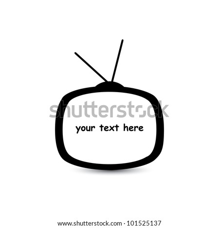 Speech in TV - stock vector