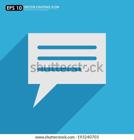 Speech or comment bubble on blue background - stock vector