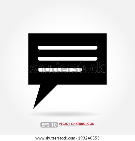 Speech or comment bubble on white background - stock vector