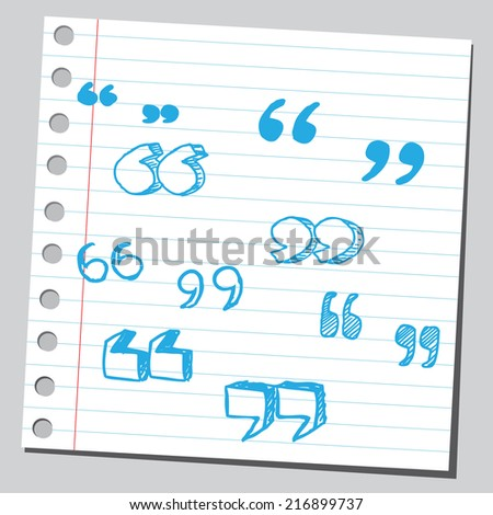 Speech quotes  - stock vector
