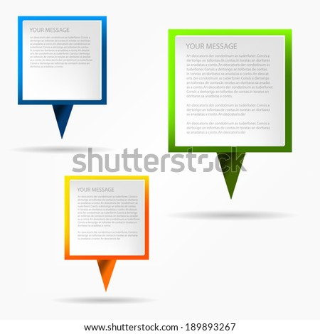 Speech vector sign on white background for message and text design - stock vector