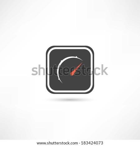 speed sensor icon - stock vector