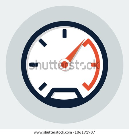 Speedometer flat icon - stock vector