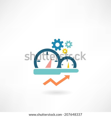 speedometer icon - stock vector