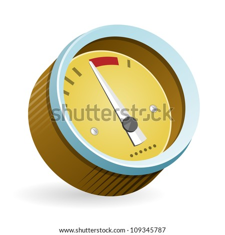 Speedometer Icon Illustration - Isolated illustration of speedmeter car control instrument on white background - stock vector