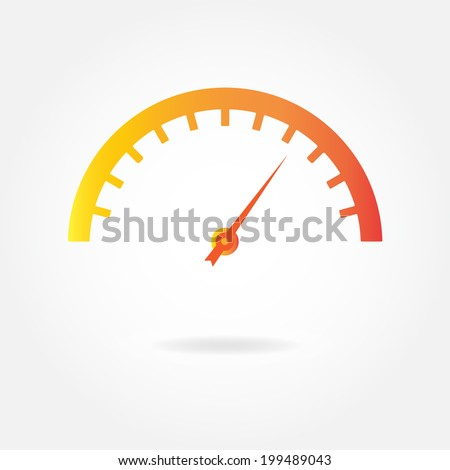 Speedometer icon or sign. Car instruments vector illustration. - stock vector