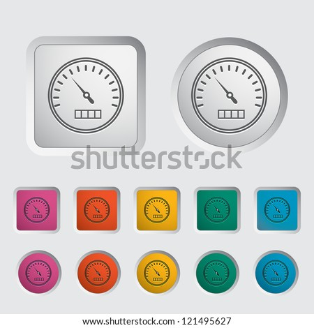 Speedometer icon. Vector illustration. - stock vector