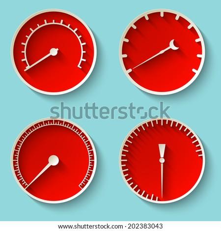 Speedometer icons. Vector illustration - stock vector