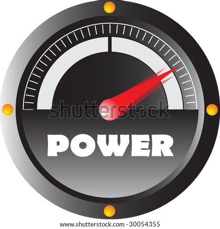 speedometer power - stock vector