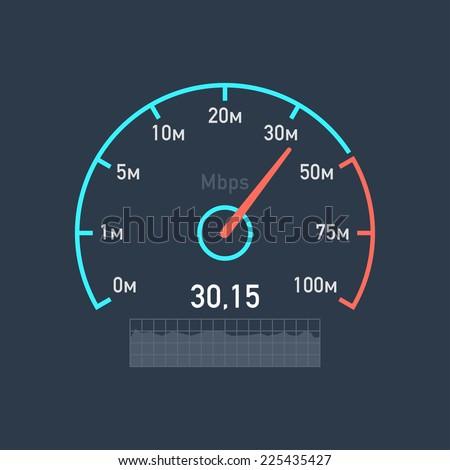 Speedometer speed Internet traffic - stock vector
