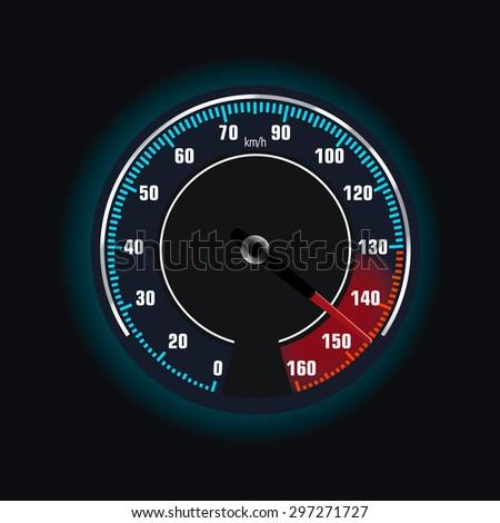 Speedometer. Vector illustration. - stock vector