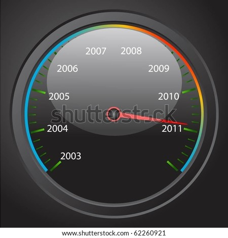 Speedometer with the date of the new year. - stock vector