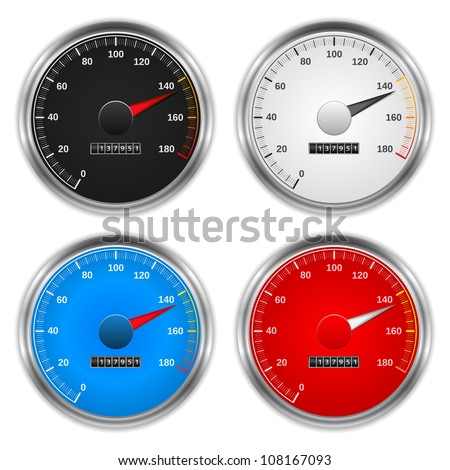 Speedometers, vector eps10 illustration - stock vector