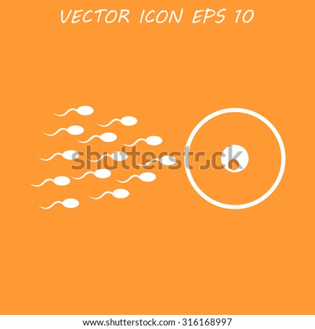 Sperm and egg cells thin line icon for web and mobile minimalist flat design.  - stock vector
