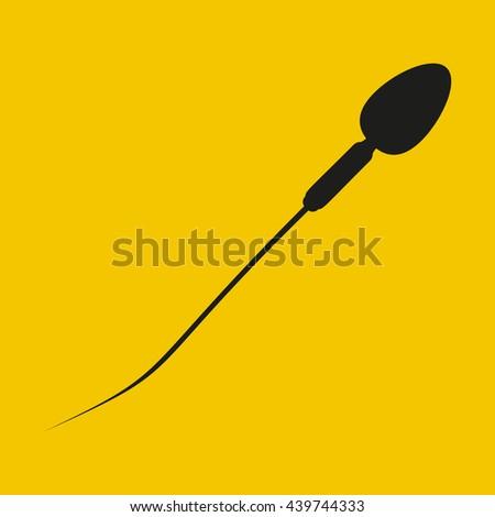 Sperm icon - stock vector