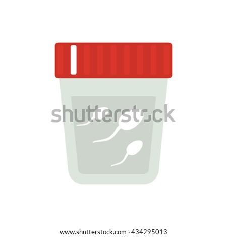 Spermatozoa expressive fertility and fertilization semen    Flat vector illustration isolated on white background - stock vector