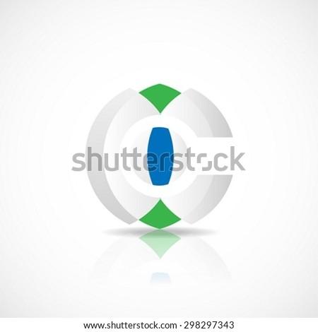 Sphere abstract vector logo design template - stock vector