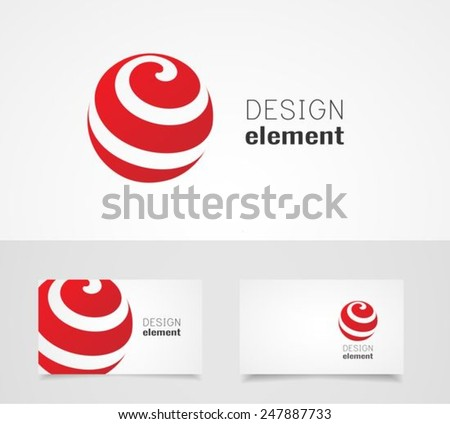 Sphere abstract  vector logo design template and business card template - stock vector
