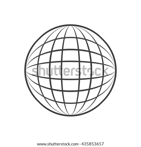 Sphere icon. Sphere Vector isolated on white background. Flat vector illustration in black. EPS 10 - stock vector