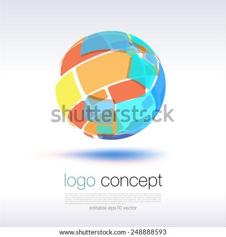 Sphere Logo Concept - stock vector
