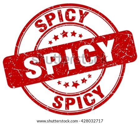 spicy red grunge round vintage rubber stamp.spicy stamp.spicy round stamp.spicy grunge stamp.spicy.spicy vintage stamp. - stock vector