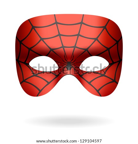Spider mask. Vector. - stock vector