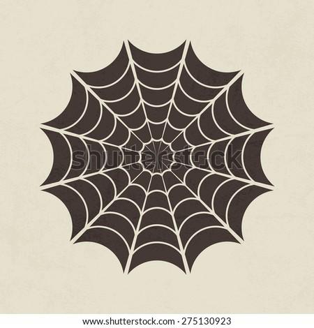 Spider web, Cobweb icon - Vector - stock vector