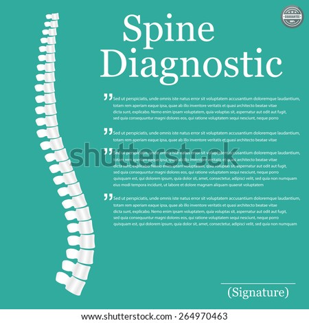 Spine Diagnostic. Vector - stock vector