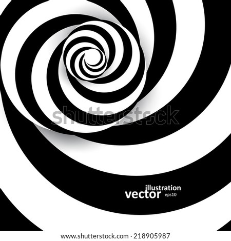 Spiral abstract background, dynamic optical art, vector illustration eps10 - stock vector